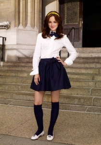 Leighton Meester as Gossip Girl's Blair Waldorf